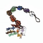 7 Chakra Gemstones Reiki Healing Crystals Hanging Ornament Home Indoor Decoration for Good Luck,Yoga Meditation,Protection