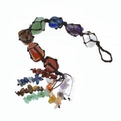 7 Chakra Gemstones Reiki Healing Crystals Hanging ...