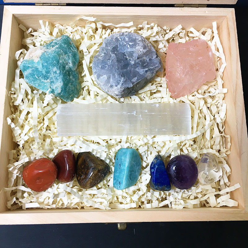 Hot Selling Healing Crystal Gem Rough Stone Set En...