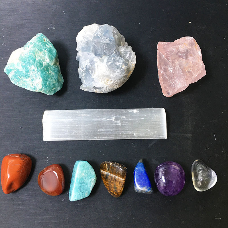 Hot Selling Healing Crystal Gem Rough Stone Set Energy Crystal Semi-precious Colorful Stones